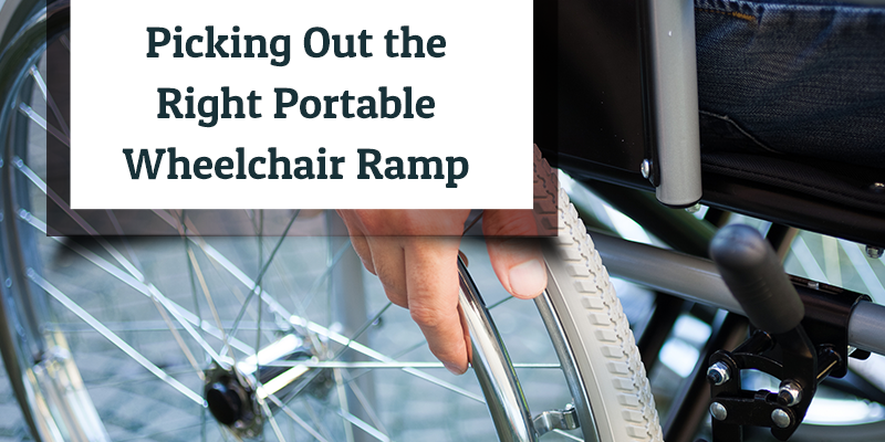 Picking Out the Right Portable Wheelchair Ramp - Medserv